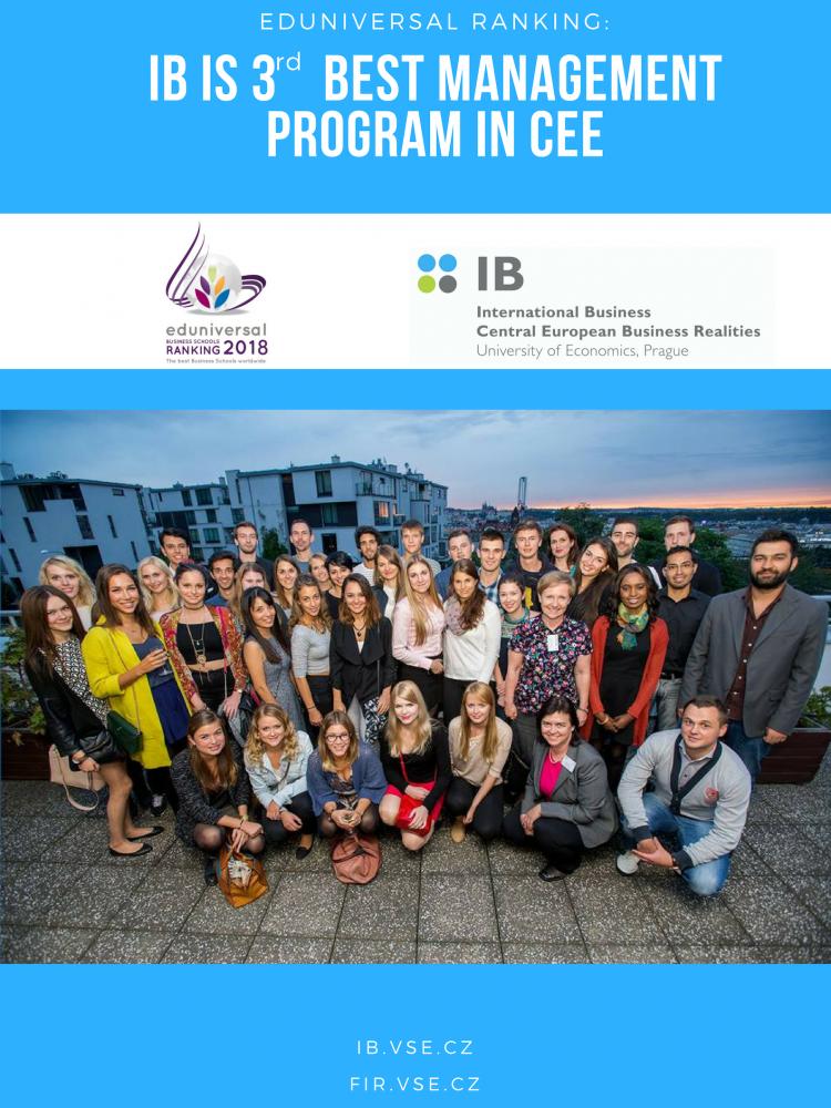 International Business is 3rd best management program in CEE