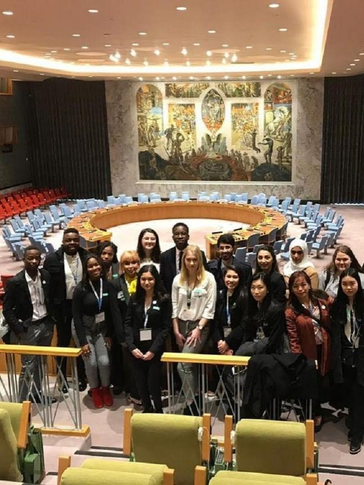 IDS student attended the 23rd session of the Youth Assembly in New York