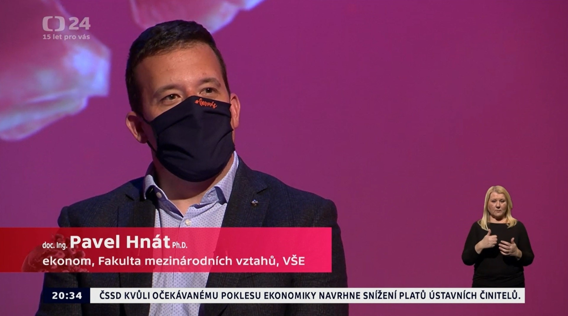 "Assoc. Prof. Pavel Hnát was in Daniel Stach's special ""Earth in Need"" on Czech TV"
