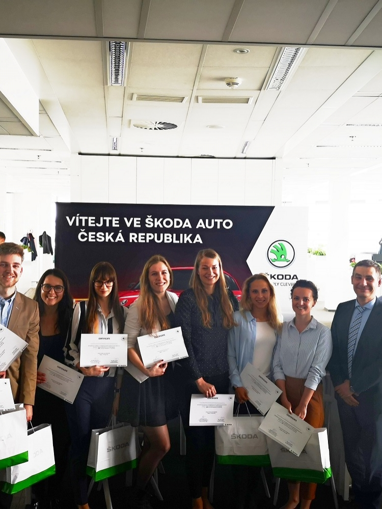 Students presented their projects to Marketing Management of Škoda Auto Czech Republic