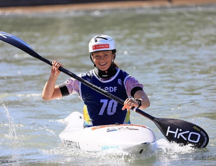 FIR student Amálie Hilgertová – the European Champion in Water Slalom