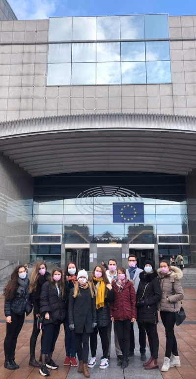 SKOK Visited the EU Institutions in Brussels. The Students Were Accepted by the Ambassador Jakub Dürr.